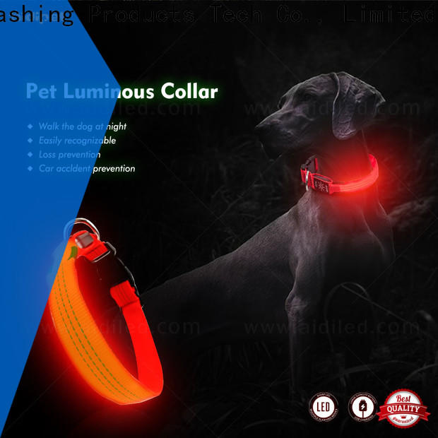AIDI rechargeable waterproof light up dog collar design for outdoors