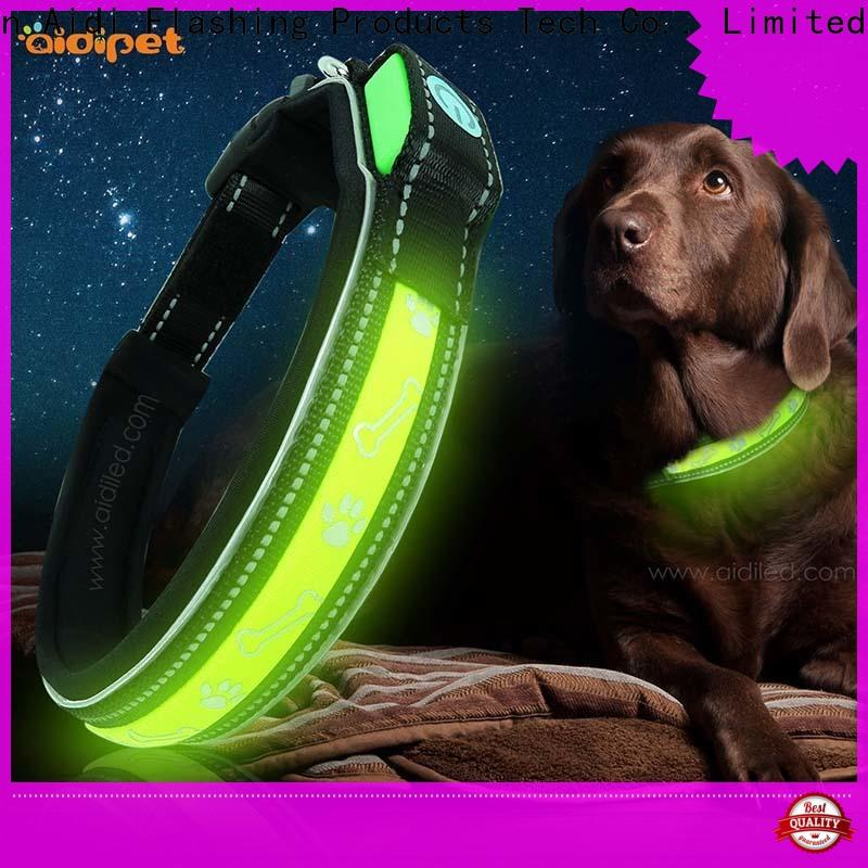 AIDI silicone lighted dog collars waterproof factory for outdoors