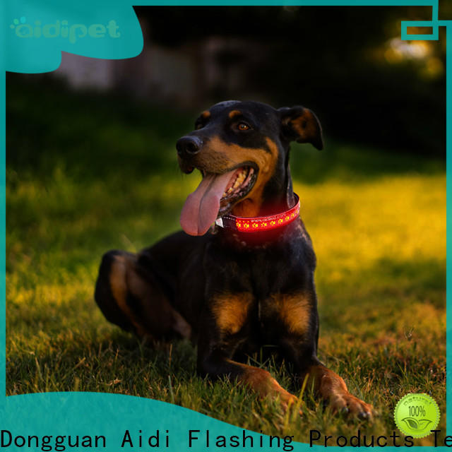 AIDI silicone glowing dog collar factory for pet