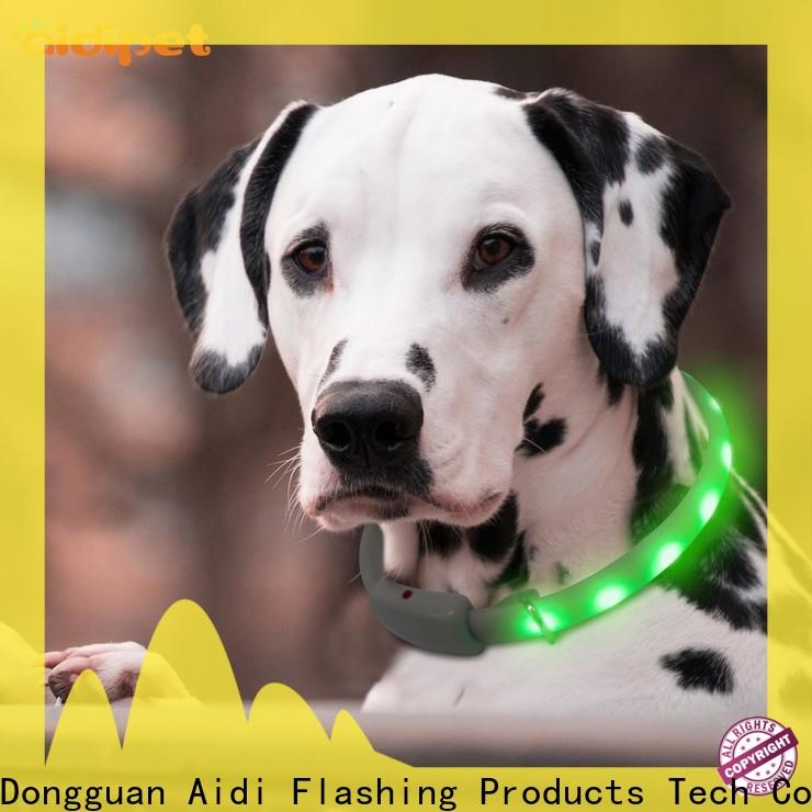 nylon best lighted dog collar design for park