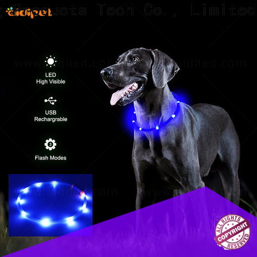 AIDI glowing glow in the dark dog collar factory for outdoors