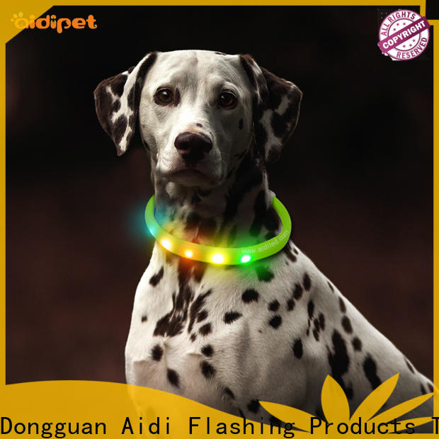 AIDI personalized reflective dog collars design for pet