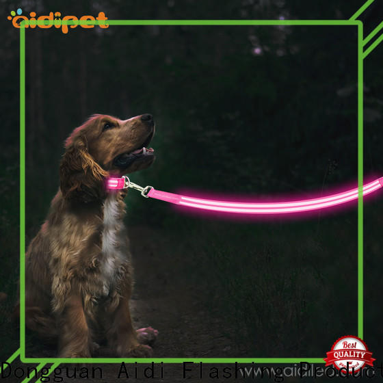 AIDI led dog leash factory for walking