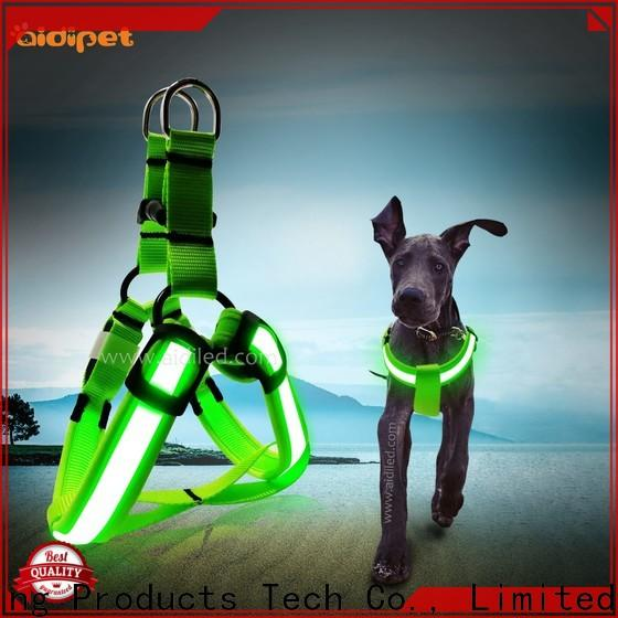 AIDI glow in the dark dog harness customized for pet