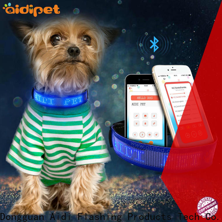 AIDI rechargeable dog collar light with good price for pet