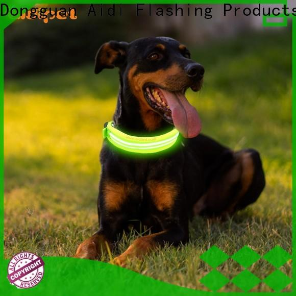 AIDI silicone dog collar led flashing light with good price for pet
