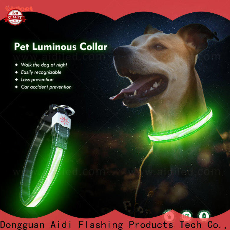 AIDI dog collar lights waterproof with good price for outdoors