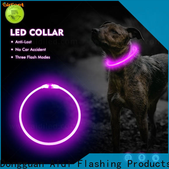 AIDI flashing led dog collar pendant light with good price for park
