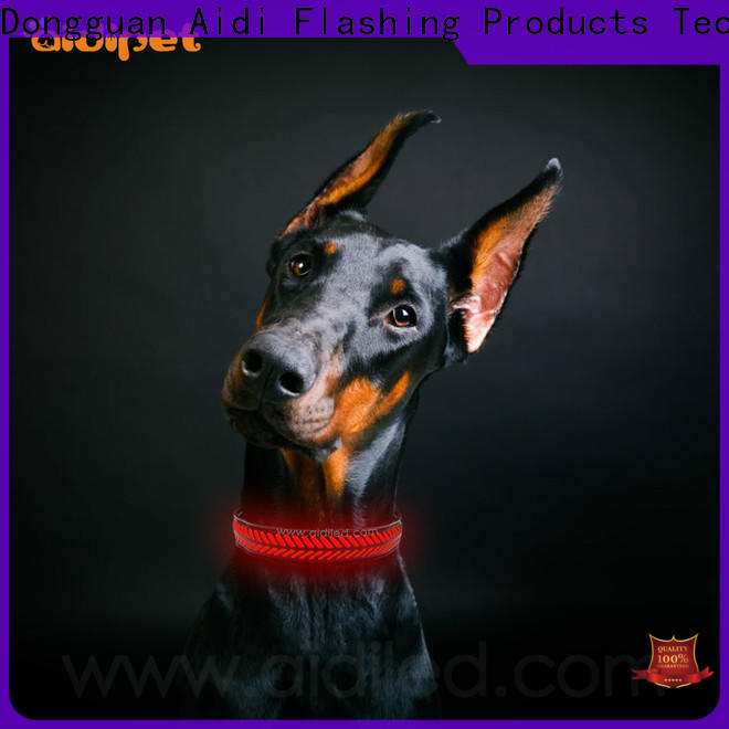 AIDI nite lite dog collars factory for park