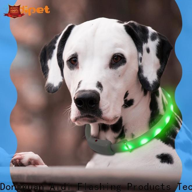 nylon best led dog collar with good price for outdoors