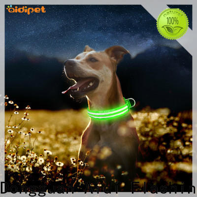 AIDI waterproof illuminated dog collar design for pet