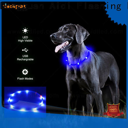 AIDI nylon best light up dog collar design for park