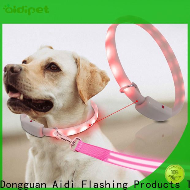 AIDI silicone reflective dog collars inquire now for pet