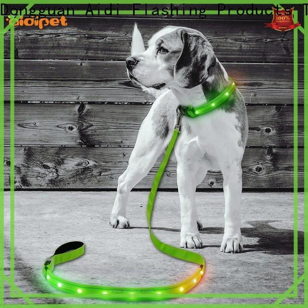 fishnet dog leash with flashlight factory for park