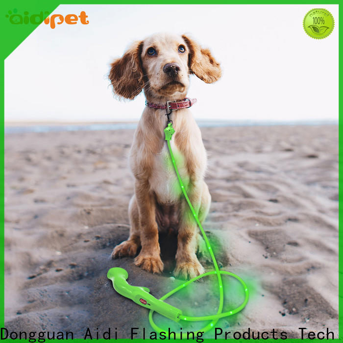 nylon light up dog leash with good price for park