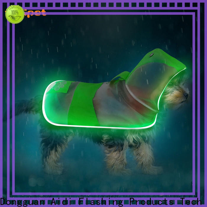fishing net lighted dog harness customized for park