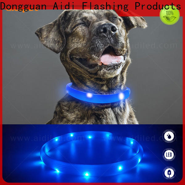 rechargeable waterproof light up dog collar design for park
