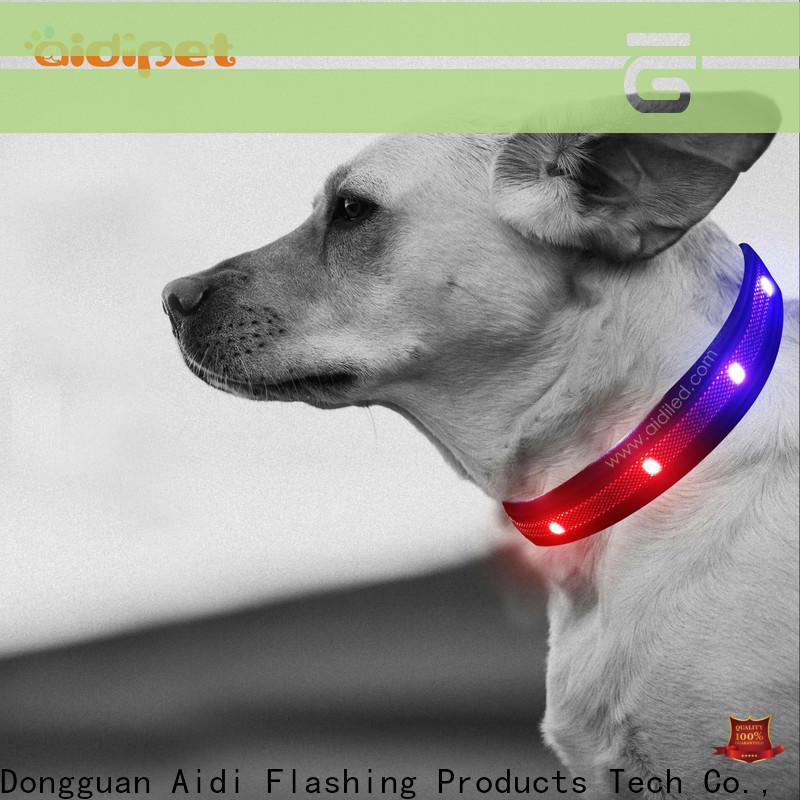 AIDI flashing dog collar light design for park