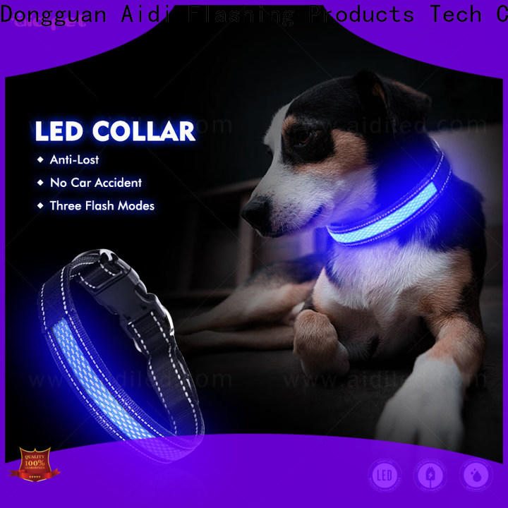 AIDI remote night dog collar factory for outdoors