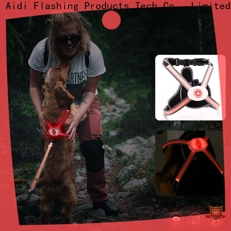 AIDI colorful dog harness with led lights manufacturer for park