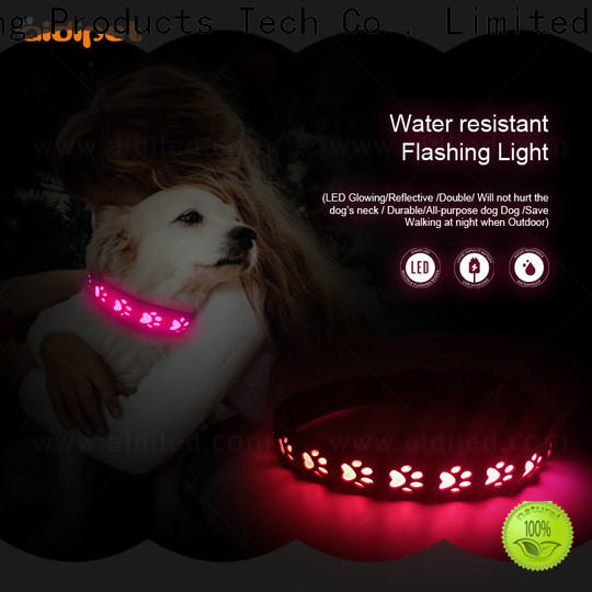 AIDI flashing led dog collar pendant light factory for pet