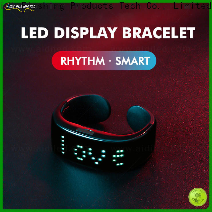 AIDI comfortable led slap bracelet with good price for man