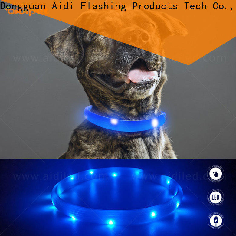 reflective dog collar lights waterproof factory for walking
