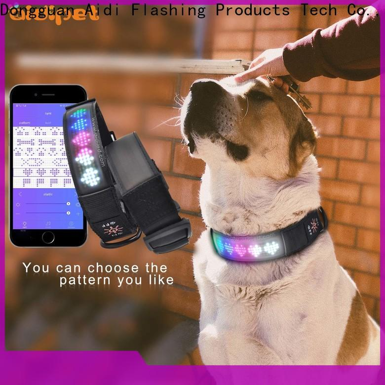 AIDI light up dog collar rechargeable with good price for pet