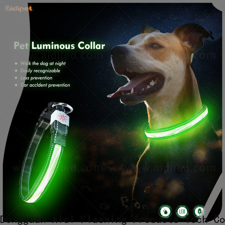 AIDI dog collar lights waterproof factory for walking