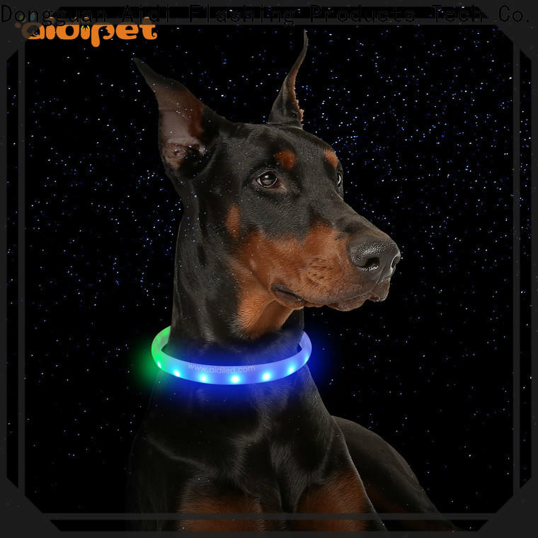 AIDI best glow in the dark dog collar design for outdoors
