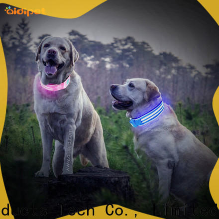 AIDI rechargeable personalized reflective dog collars inquire now for outdoors