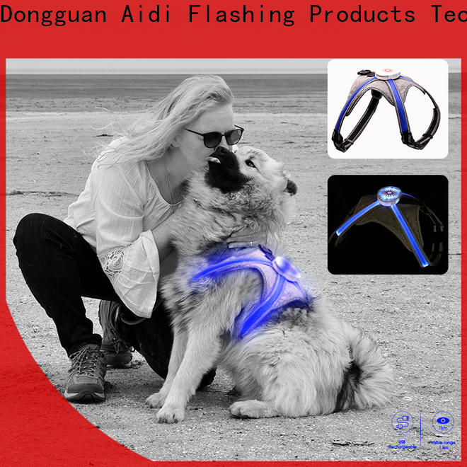 AIDI lighted dog harness manufacturer for street