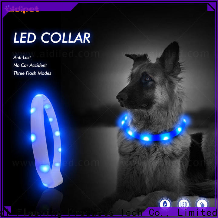 AIDI waterproof light up dog collar with good price for pet