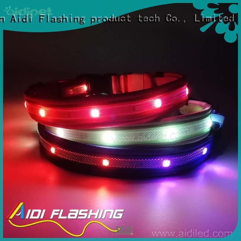 reflective lightning dog collar factory for walking