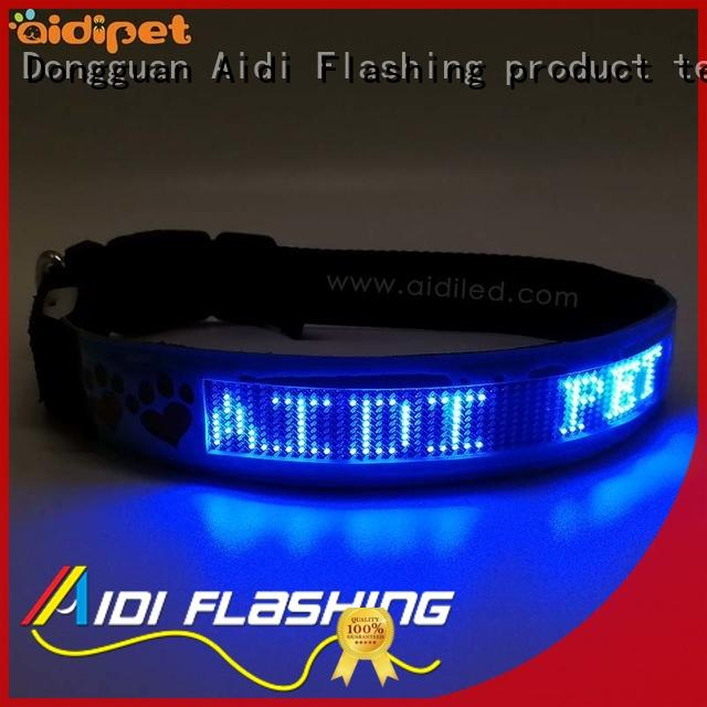 AIDI led dog collar waterproof with good price for pet
