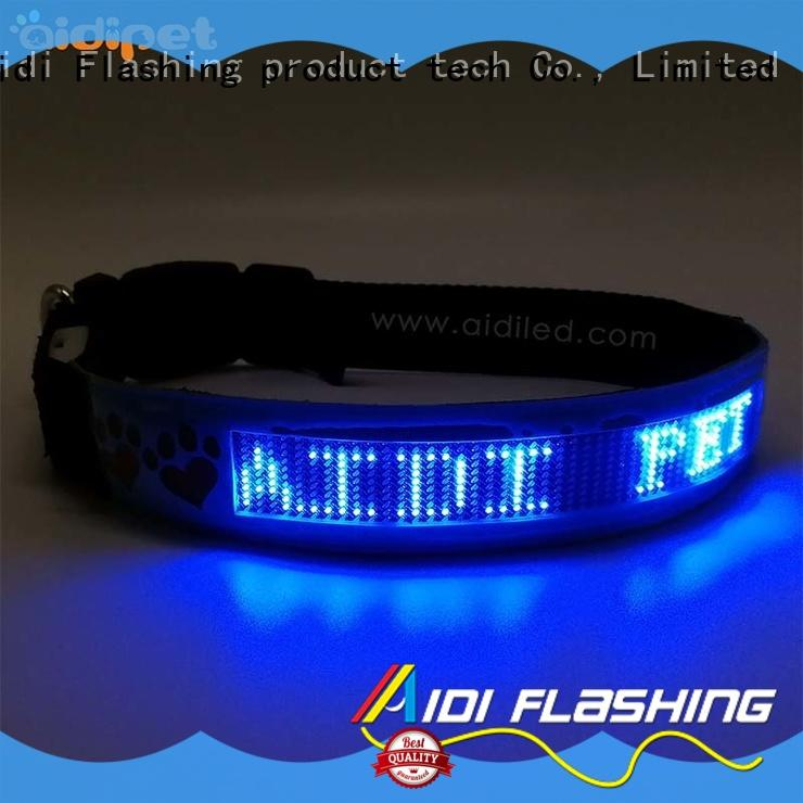 durable dog collars for dark nights supplier for pet AIDI