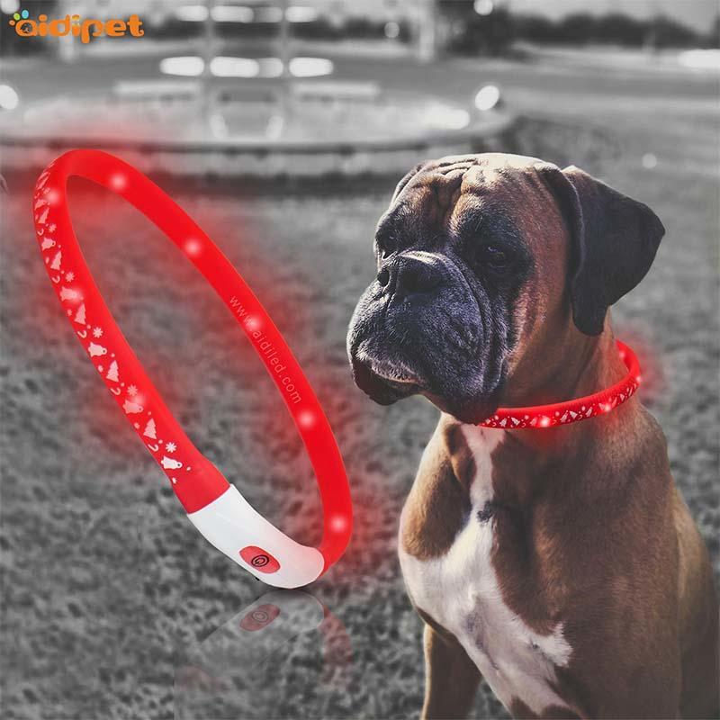 AIDI-Find Led Dog Collar Waterproof Led Christmas Printing Dog Collar-2