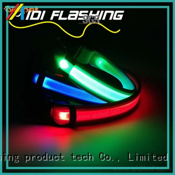 reflective flashing dog collar factory for walking