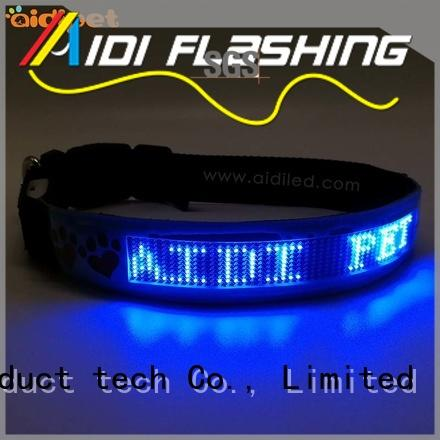 AIDI bluetooth dog collar with light attached with good price for outdoors