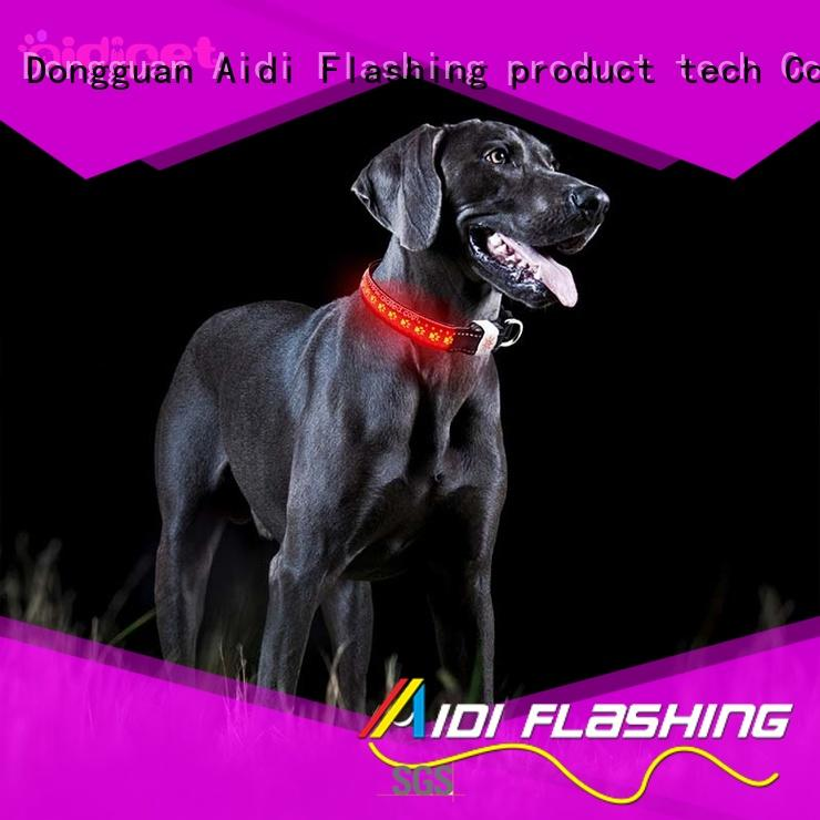 personalized led light up dog collar rechargeable AIDI