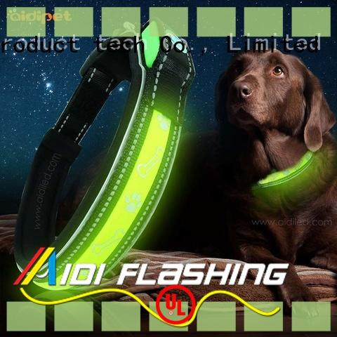 AIDI waterproof lighted dog collars factory for pet