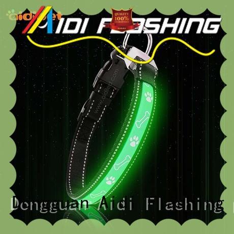 AIDI flashing dog collars lighted for walking
