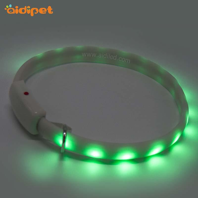 led RGB light up dog collar rechargeable AIDI-C7-3