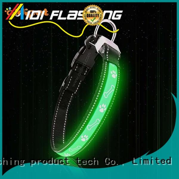 AIDI light up dog collar rechargeable design for park