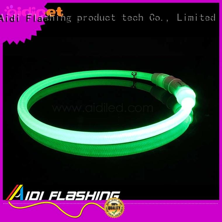 metal shining light up dog collar AIDI Brand