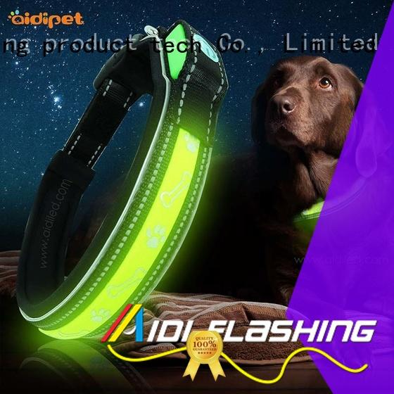 AIDI waterproof reflective dog collars inquire now for pet