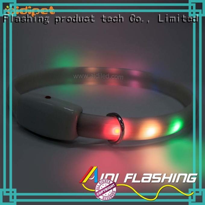 metal light up dog collar bluetooth led AIDI company