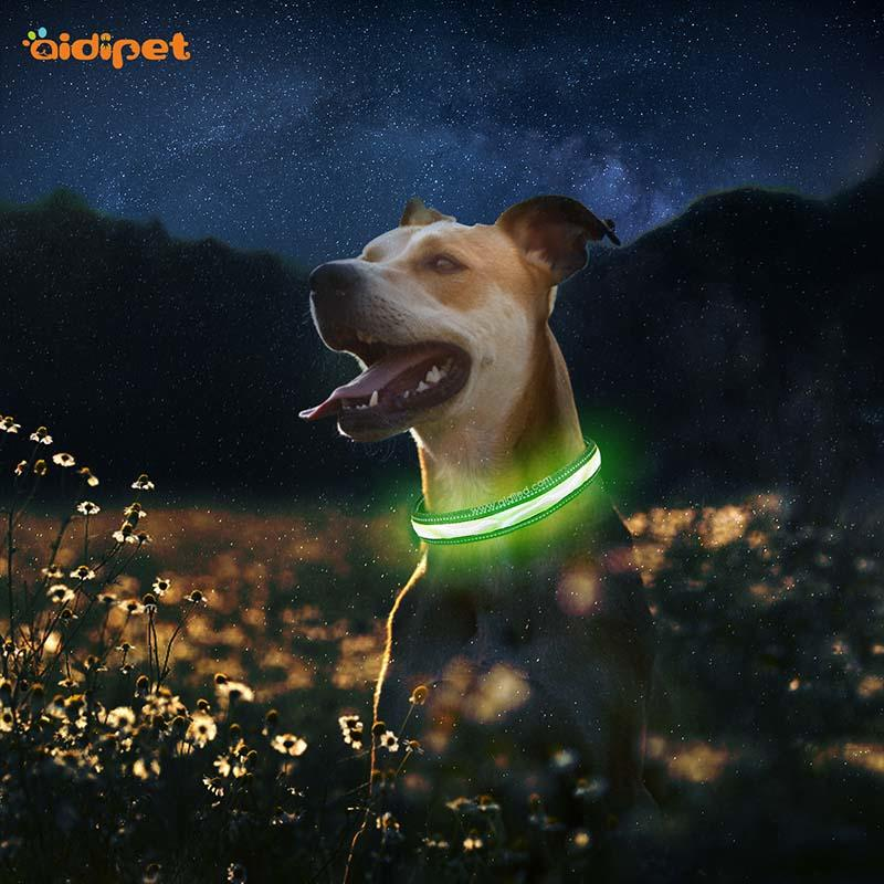 AIDI-Find Light Up Dog Collar Rechargeable Led Nylon Dog Collar From-1