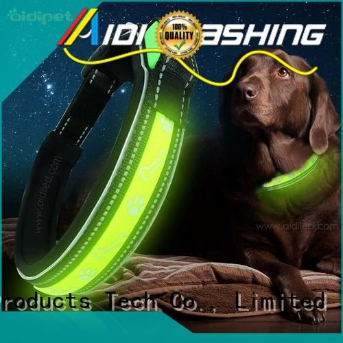 silicone night time dog collars with good price for pet