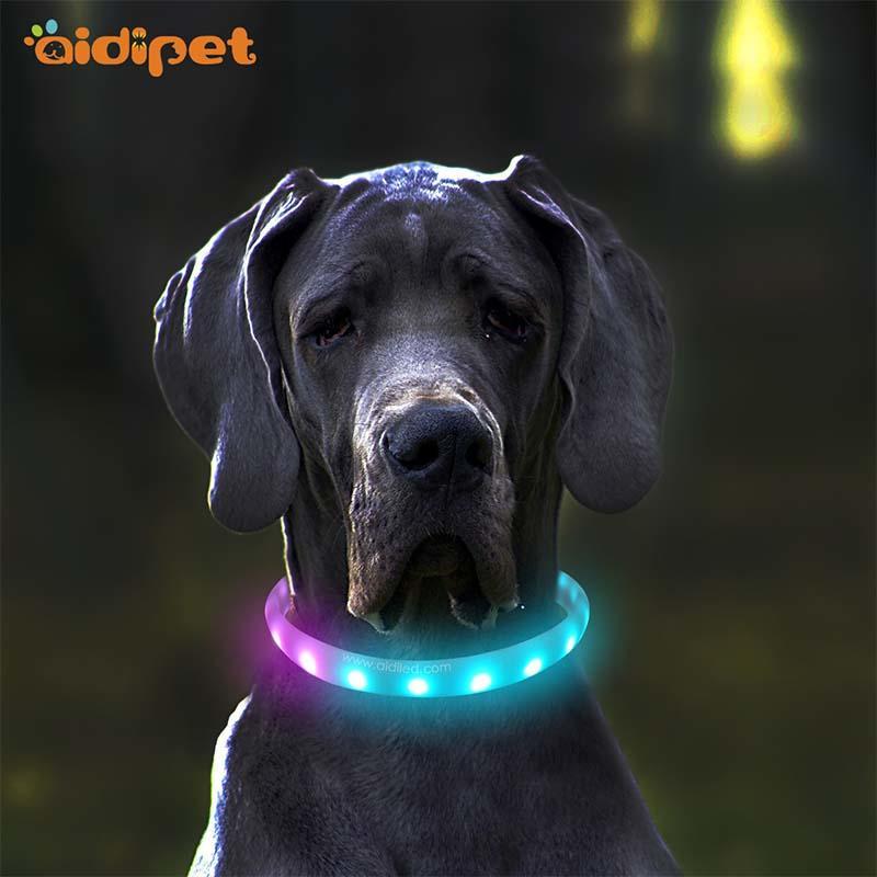 -Led Rgb Colorful Pet Collar Aidi-c6-shenghong-2